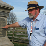 Stuart Dempsey shows the 107th Ohio Infantry Regiment monument