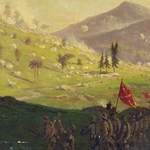 Attack on Little Round Top painting