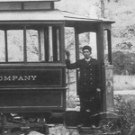 Operator on trolley