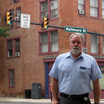 Stuart in downtown Gettysburg