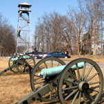 Guns next to the Longstreet Tower