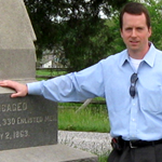 Jim Hessler at the 2nd New Hampshire Infantry monument