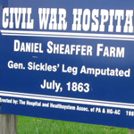 Daniel Sheaffer Farm sign